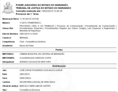 Processo por abuso de poder foi protocolado no dia 29 de janeiro