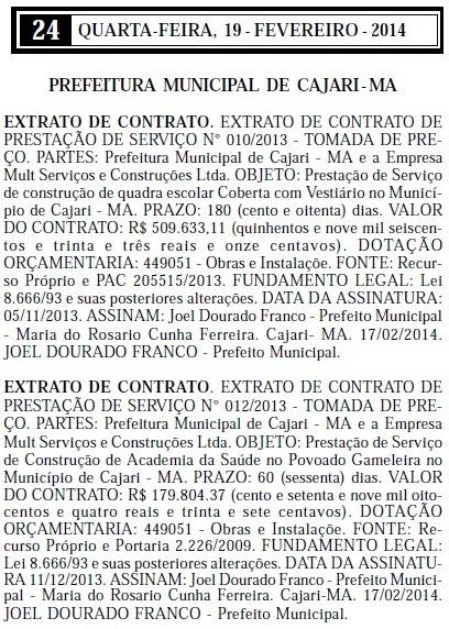 De uma só vez, prefeito Dr. Joel (PRB), assinou dois contratos com a empresa fantasma
