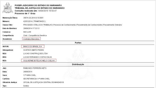 Banco do Brasil acionou assessor de Júnior Verde por contratos bancários