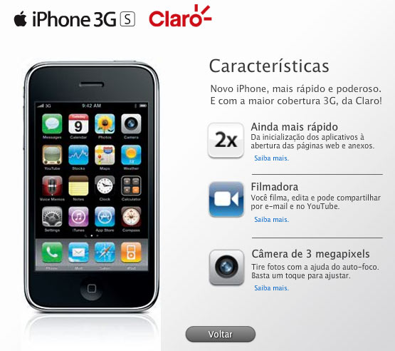 3GS da Claro
