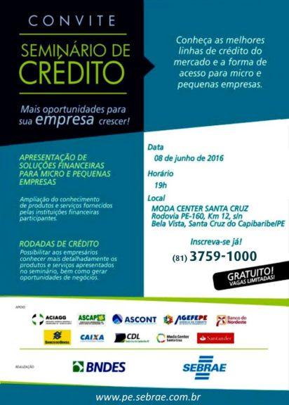 SEMINÁRIO DE CRÉDITO - MODA CENTER