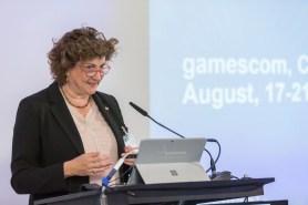 gamescom 2016, Pressekonferenz in Berlin: Katharina C. Hamma, Geschäftsführerin der Koelnmesse GmbH