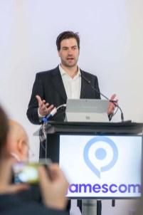 gamescom 2016, Pressekonferenz in Berlin, Dr. Maximilian Schenk, Geschäftsführer des BIU – Bundesverband Interaktive Unterhaltung