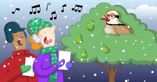 A cartoon of people singing Christmas carols - Raspberry Pi Christmas Resources