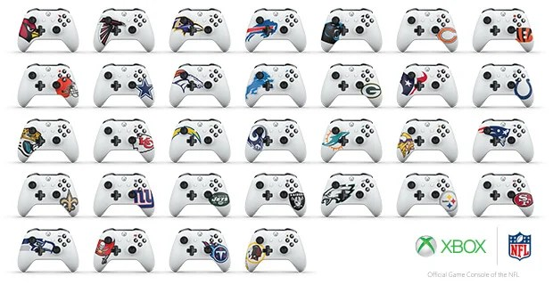 Xbox Design Lab NFL Controllers Key Art