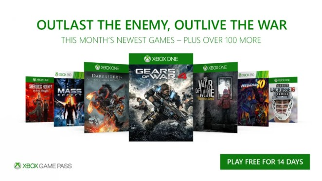 Xbox Game Pass December 2017 Update