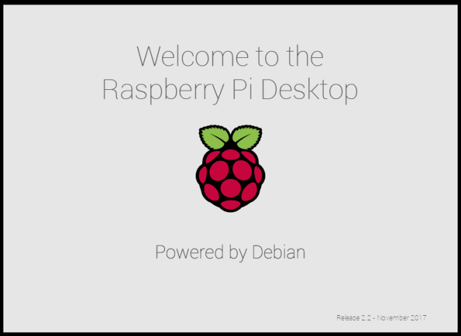 Raspberry Pi Desktop Stretch splash screen