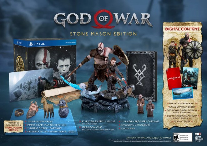 God of War (PS4) Stone Mason Edition
