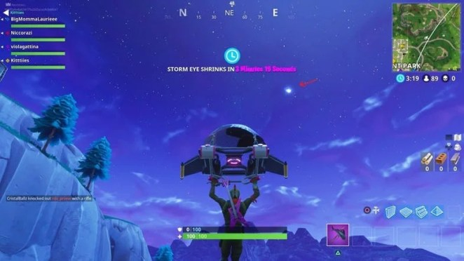Fortnite Fans Notice Strange Object In Sky Which Could Destroy Entire Map Fortnite Comet