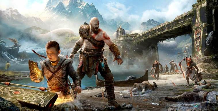 God Of War 4 Dragon Slayer Hraezlyr Fight Gameplay