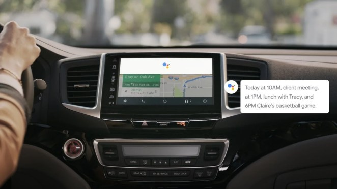 Assistant on Android auto