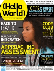 The front cover of Hello World Issue 3 - Raspberry Pi books