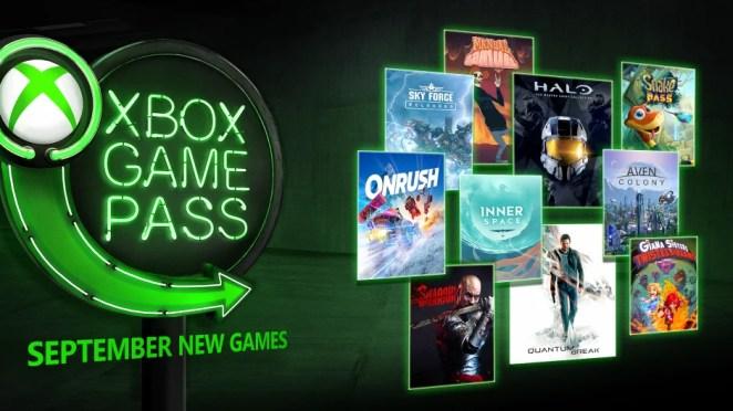 Xbox Game Pass September Hero Image