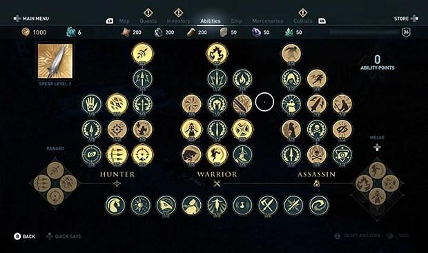 Assassin's Creed Odyssey Skill Tree