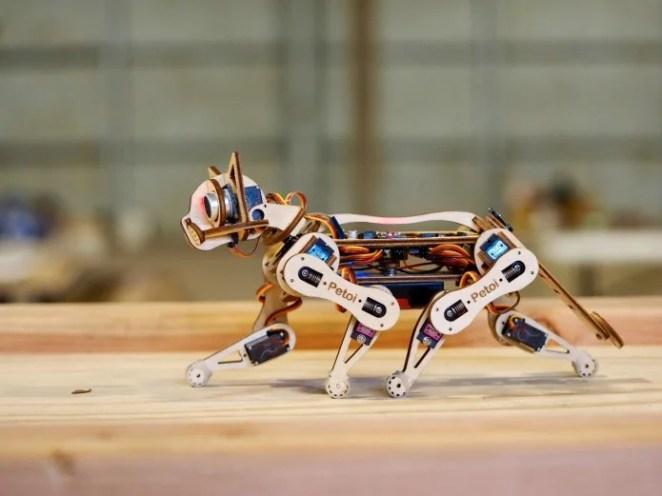 Petoi the laser-cut robotic cat