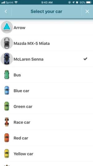 Waze Change Car