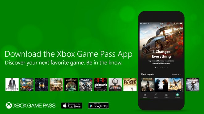 Xbox Game Pass Mobile App graphic
