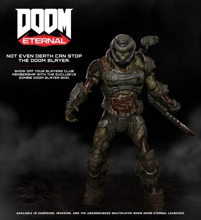 exclusive Zombie DOOM Slayer skin