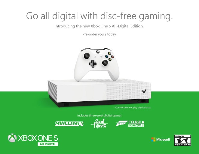 Die neue Konsole Xbox One S All-Digital