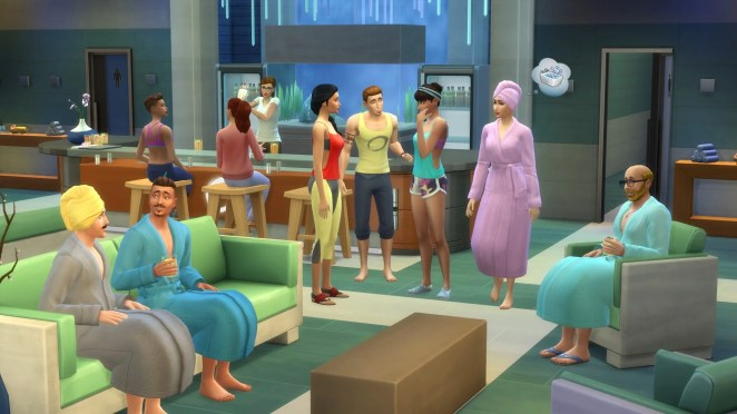 The Sims 4 Spa Day