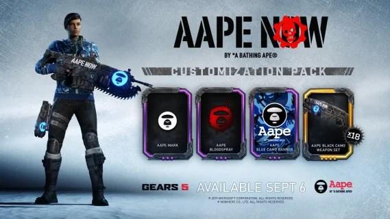 Gears 5 auf der gamescom 2019: Horde-Modus, Halo: Reach Character Pack und neue AAPE-Kollektion