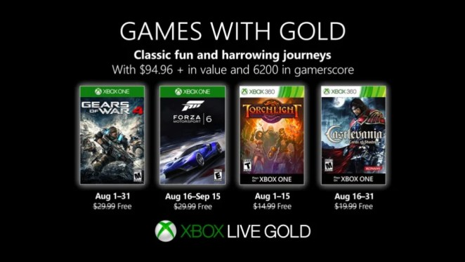 Games with Gold August 2019 Hero Image