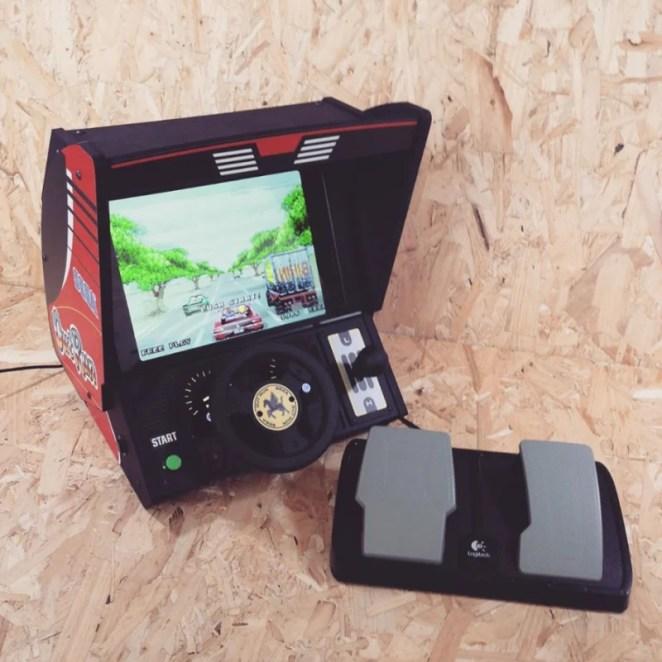 Matt's Outrun tabletop games console is fantastically faithful to the original