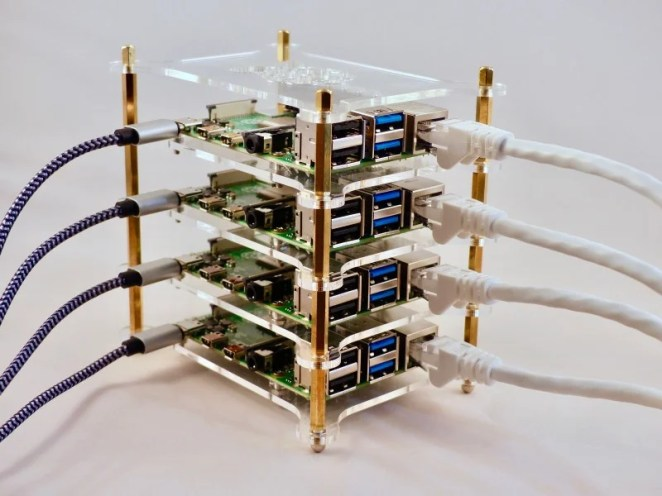 Inexpensive cluster cases like this one are available in a wide range of configurations