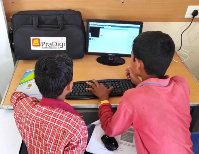 Pratham Education supplied Raspberry Pi-based computing kits for Code Club members to use