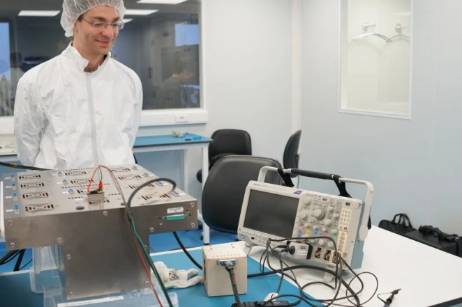 ESA engineer Lukas Armborst with the CryptIC