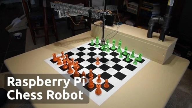Raspberry Turk mechanical chess opponent