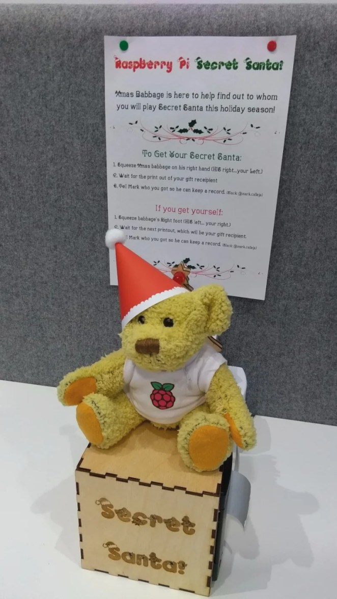 Santa Babbage chooses which colleague you need to buy a present for