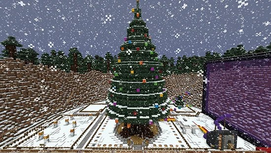 Hack Minecraft using code so when its Christmas lights change colour your own tree lights do too