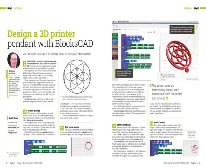 Design a 3D printer pendant