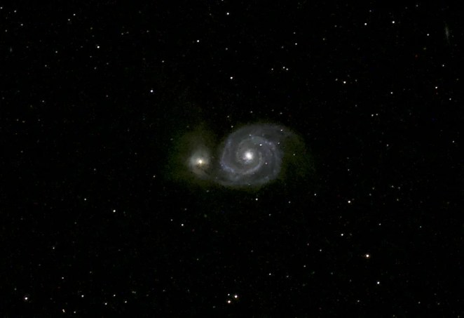 Whirlpool Galaxy (Messier 51) taken by Joe using his auto guided rig at the Texas Star Party 2019 in Fort Davis