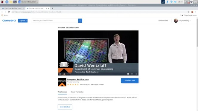 David Wentzlaff's Computer Architecture course is widely regarded as one of the best 'all-rounders'