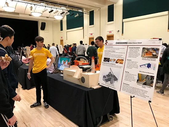 Hungry students were delighted to encounter Cheeseborg at their final year expo