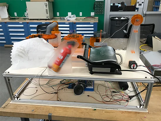 Cheeseborg begins to take shape in the Carnegie Mellon Universitymakerspace