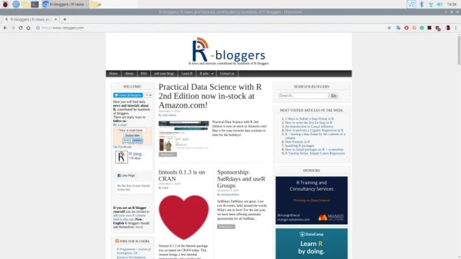 Keep abreast of what's being posted online about R with the R-blogger content aggregator