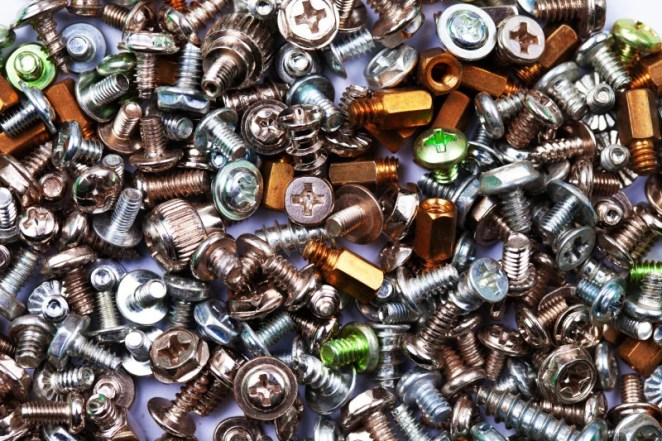 We recommend you have an abundant supply of nuts, bolts and screws