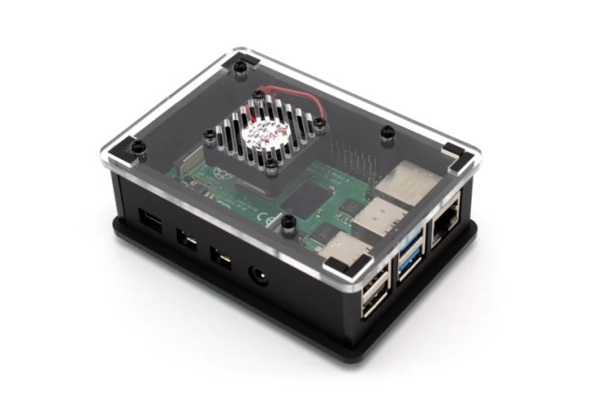 The Pi Hut Raspberry Pi 4 Case 2.0 comes as a self-assembly kit