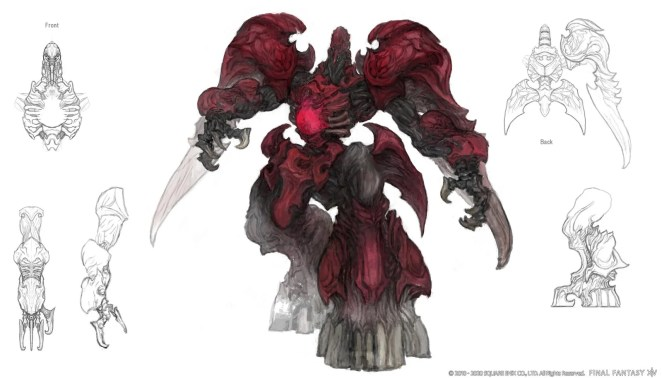 Final Fantasy XIV: Shadowbringers - Ruby Weapon concept art