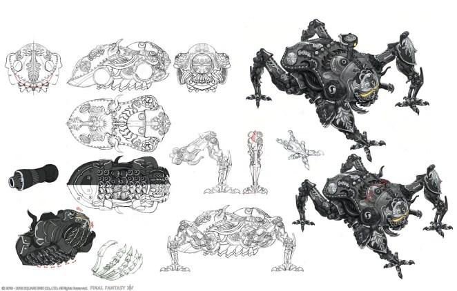 Final Fantasy XIV: Shadowbringers - Omega concept art