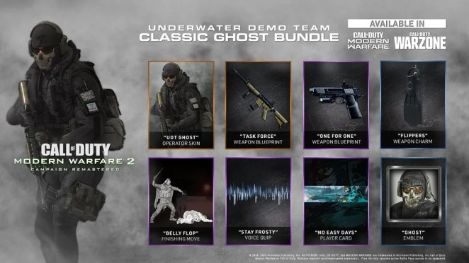 Call of Duty: Modern Warfare 2 Campaign Remastered – Underwater Demo Team Classic Ghost Bundle for Modern Warfare