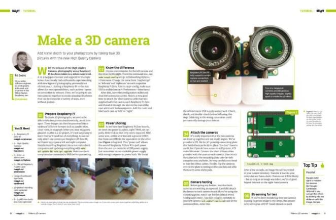 Make a 3D camera