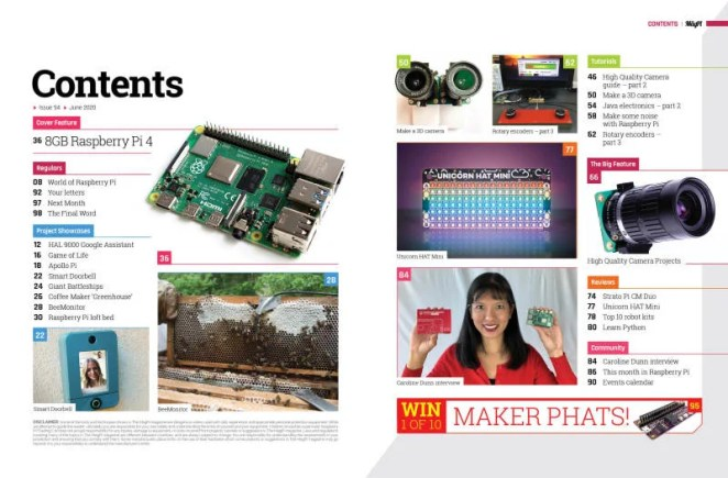 The MagPi magazine 94: Contents page
