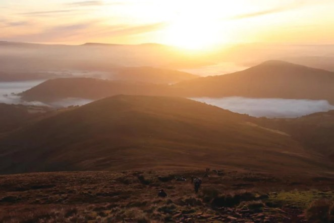 The Brecon Beacons, where Alan tested his project to track his progress during a gruelling running race