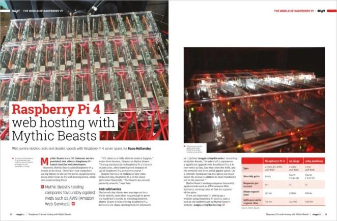 Mythic Beasts Raspberry Pi 4 web hosting