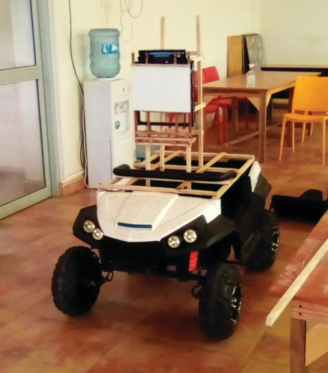 Joseph upcycled an old remote-control car for his robot's base
