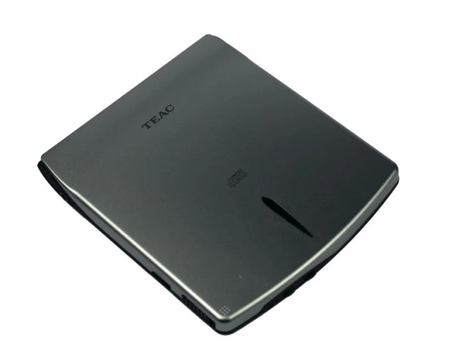 Simple CD-ROM readers like the Teac CD-210PU work well